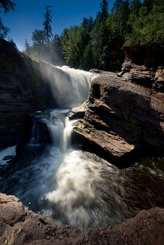 Rainbow Falls. by Chris Arace, via Flickr; Tahquamenon State Park, Michigan