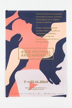 """Polish multidisciplinary graphic designer Marta Gawin created this great identity for the XXIII Ars Cameralis Festival 2014, a visual arts festival in Poland.  """"For over twenty years, the Ars Cameralis Festival has constituted a space of intermingling visual arts, music, theatre, film, and literature. Ars Cameralis events have dozens of faces and guises, but always rely on a unique atmosphere of intimate meetings of small audiences with music, language, or image.   The visual identity of..."""