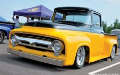 56 Ford F100 Satin Black | The Ford F-100 Supernats Photo Gallery