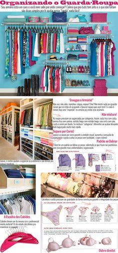 Organizando o guarda-roupa (só com doar as roupas rasgadas. apenas doe o que está digno de ser usado . e limpo! Wardrobe Organisation, Closet Organization, Organisation Ideas, Closet Storage, Konmari, Organizar Closets, Personal Organizer, Closet Bedroom, Trendy Bedroom