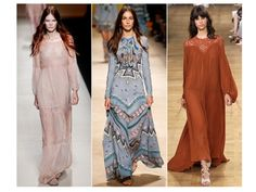 Spring 2015 Trend hippe-chic.look features powder pink silhouettes, kaleidoscope motifs, and lace effects, plus fringe galore