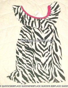 4ab978db87e Nwt Gymboree Girls Size 7 Wild for Zebra Black   White Sleeveless Shirt Top  New