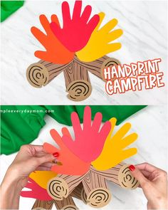 Camping Crafts For Kids, Summer Crafts For Kids, Daycare Crafts, Classroom Crafts, Craft Activities For Kids, Toddler Crafts, Art For Kids, Pumpkin Preschool Crafts, October Preschool Crafts