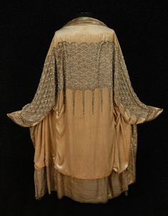 Evening cocoon of jewelled panne velvet, 1920s