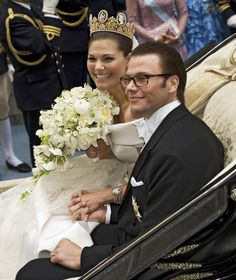 Princess Victoria Photos Photos - Crown Princess Victoria of Sweden, Duchess of Västergötland, and her husband Prince Daniel of Sweden, Duke of Västergötland, are seen after their wedding ceremony on June 19, 2010 in Stockholm, Sweden. - Wedding Of Swedish Crown Princess Victoria & Daniel Westling - Ceremony