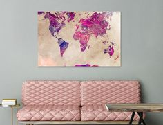 Discover «world map 38», Numbered Edition Aluminum Print by Justyna Jaszke - From $59 - Curioos