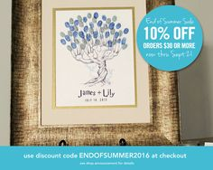 Harry Potter Wedding Whomping Willow Thumbprint by ArcadiaArtistry