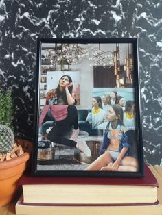 Paper Collage Art, Collages, Living Room Decor, Girly, Thoughts, Frame, Check, Shop, Handmade