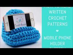 Mobile Phone Holder Crochet Pattern - How to Read Written Crochet Patterns - YouTube