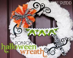 I'm a sucker for wreaths!    http://www.positivelysplendid.com/2011/09/tissue-paper-pom-pom-halloween-wreath.html