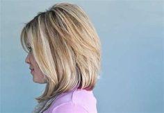 Images Long Angled Bob Hairstyles, Wavy Lob, Long Graduated Bob, Long Bob Blonde, Small Things Blog, Girls Hairdos, My Hair, Curls, Hair Cuts