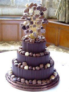 A chocolate lovers' untimate dream cake!! - Chocolate Cake by Hockleys by Wedding Paraphernalia, via Flickr
