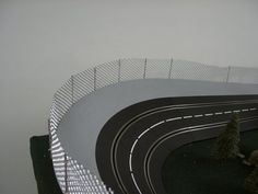 Putting a Fence on a Carrera Banked Turn Slot Car Race Track, Ho Slot Cars, Slot Car Racing, Slot Car Tracks, Race Cars, Race Tracks, Carrera Slot Cars, Scalextric Track, Train Set