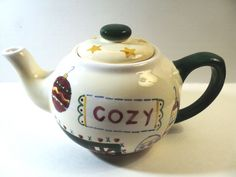 Cozy Christmas teapot