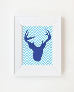 5x7 Deer Silhouette Taxidermy print by LivyLoveDesigns on Etsy, $15.00