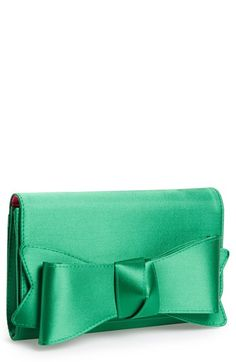 Nina Bow Clutch available at #Nordstrom in french blue?