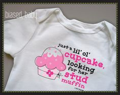 Cupcake Onesie  Funny Baby Gift by biasedbaby on Etsy, $16.00