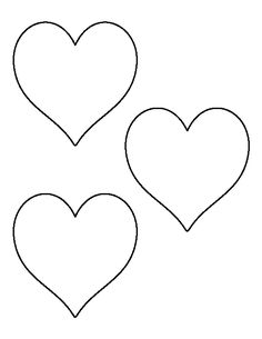 4 inch heart pattern. Use the printable outline for crafts, creating stencils, scrapbooking, and more. Free PDF template to download and print at http://patternuniverse.com/download/4-inch-heart-pattern/