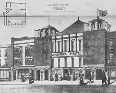 1898 – Alahambra Theatre of Varieties, Attercliffe, Sheffield, Yorkshire Sources Of Iron, Cinema Theatre, Old Building, Derbyshire, Moorish, City Buildings, Sheffield, Old And New, Black History