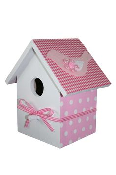 Kidsware decoratie vogelhuisje roze. Decoration bird house pink