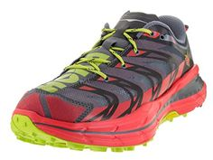 Hoka One One Speedgoat Running Shoe  Mens Bright RedBlack 95 *** More info could be found at the image url.