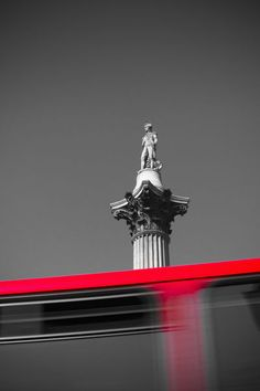'London. Trafalgar Square. Nelson's Column and Double Decker Bus.' by Alan Copson on artflakes.com as poster or art print $16.63