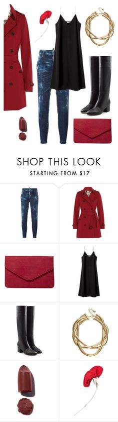 """✔️"" by schenonek ❤ liked on Polyvore featuring Dsquared2, Burberry, Dorothy Perkins, Sergio Rossi, ASOS and Tiffany & Co."