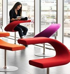 I love these!! some study areas need to put these in around campus with a little side table next to them!: