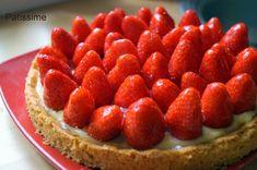 la tarte aux fraises sur un sablé breton