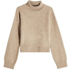 Rejina Pyo Cashmere Pullover (10.565 ARS) ❤ liked on Polyvore featuring tops, sweaters, jumper, beige, beige top, high neck sweater, cashmere top, pullover top and cashmere sweater