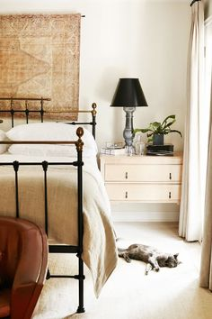 We asked three top interior designers to share the top decorating mistake mistakes they notice in homes everywhere—and solutions to fix them. Fall Behind, Copy Cat Chic, Neutral Bedrooms, Dresser As Nightstand, Bedroom Furniture, Guest Room, Master Bedroom, Bliss, Bed Furniture