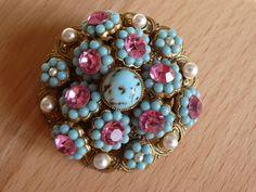 Vintage Broschen - 1 Brosche-perlen schmucksteine - ein Designerstück von caro-diel bei DaWanda