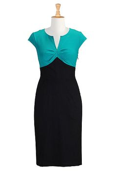 Mixed knit sheath dress from eShakti. Referral code PETERMILLS55CC for $30 off your first order.