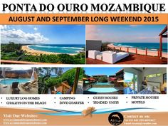 Accommodation in Ponta Do Ouro September Long Weekend, Log Homes, Motel, Safari, The Unit, Camping, Luxury, Beach, Timber Homes