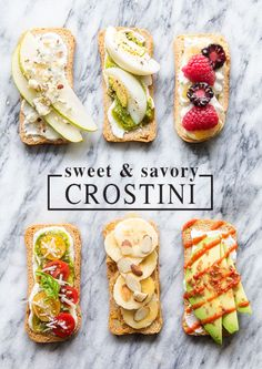 Sweet & Savory Crostini
