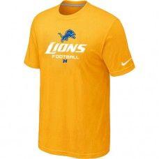 Cheap Men Detroit Lions Critical Victory Yellow Short Sleeved T-Shirt Sale_Detroit Lions T-Shirts