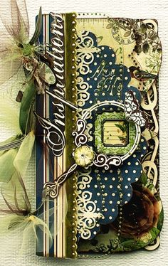 """Inspirations mini-book, but also great """"inspiration"""" for a card front."""