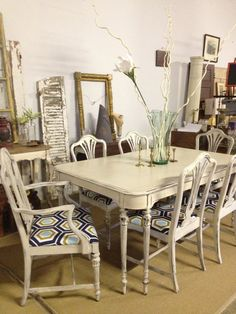 Hey, I found this really awesome Etsy listing at http://www.etsy.com/listing/161540897/vintage-dining-set-re-imagined