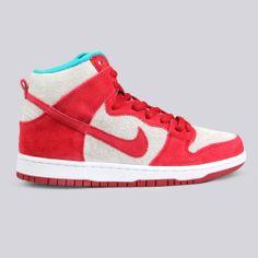 "Nike SB ""Dr Seuss"" Dunk High Gym Red White"