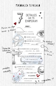 Detalles que me enamoran. San Valentín 2018 Hi everyone! Every Valentine we like to dedicate our free printable to say something different t Ideas Aniversario, Love Phrases, Diy Gifts For Boyfriend, Diy Birthday, Love Messages, Love Gifts, I Fall In Love, Valentine Day Gifts, Just For You