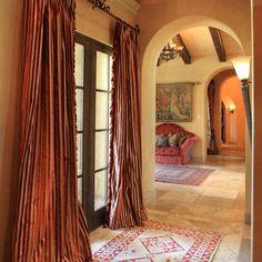 Tuscan Home, the drapes make it