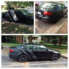 "Plasti Dip Matte Black Volkswagen Jetta TDI--First ""Big"" appearance modification that I've done."