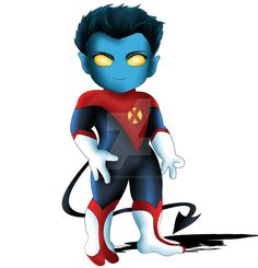 Nightcrawler Chibi by ExoroDesigns on DeviantArt