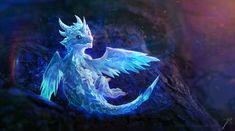 You know what& better than a cute baby-dragon? that& right, two baby-dragons :v So here& another one! Known as the frost-dragon! I am considering making a series of different kind of dragon-babi. Dragon Bleu, Ice Dragon, Baby Dragon, Snow Dragon, Water Dragon, Little Dragon, Mythical Creatures Art, Mythological Creatures, Magical Creatures