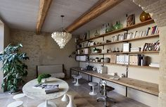 open storage from reclaimed timber. love simple lines.