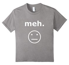 Kids Feeling Meh Emotion Just Okay TShirt Trendy T Shirts 12 Slate * Want to know more, click on the image. #FashionForladies