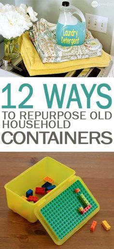 How to Reuse Old Household Containers, How to Reuse Plastic Containers, Things to Do With Old Household Containers, Repurpose Projects, Recycling, Recycling Projects, Popular Pin (Camping Hacks With Toddlers)