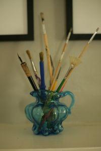 paint brush bouquet.