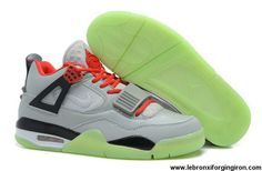 Buy New Air Jordan IV x Air Yeezy 2 Wolf Grey/Black-Red Basketball Shoes Shop