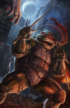 TMNT Raphael vs Zombies by Dolphinboy